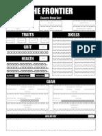 Frontier Sheet