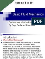 lecture 1 to 10 basic fluidmechanics