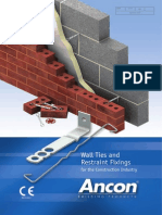 Ancon Wall Ties and Restraint Fixings for Brick, Block and Stone
