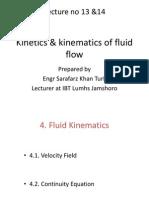 lecture no 13  14 kinetics  kinematics of fluid flow