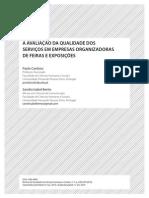 A avaliação da qualidade dos serviços em empresas organizadoras de feiras e exposições