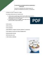 Identificacion en El Etiquetado de Los Principalesaditivos Alimentarios y Codificacion
