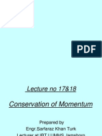 lecture no 17  18 conservation of momentum