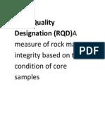 Rock Quality Designation