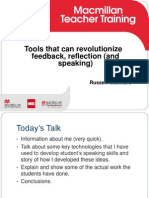 Tools that can revolutionize our feedback and reflection ( and speaking)