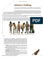 Prehistoric Early Man Clothing