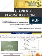 XXVI Aclaramiento Plasmático Renal  24- MAR-14