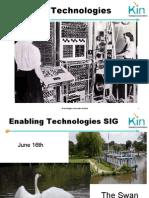 Enabling Technologies SIG June16 2009