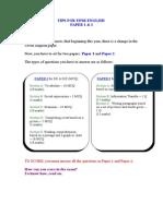 Tips for UPSR English