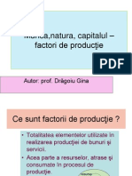 0 Munca Natura Capitalul Factori de Productie