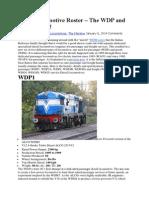 Diesel Locomotive Roster