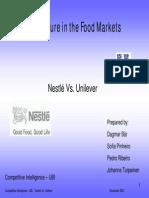 Nestle vs. Unilever
