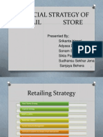 financial strategy of retail store