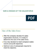 Size & Design of the Salesforce