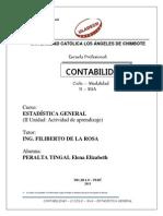 ACTIVIDAD DE APRENDISAJE  II - ESTADÌSTICA1