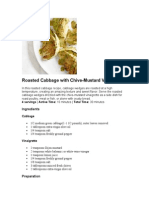 Roasted Cabbage with Chive-Mustard Vinaigrette