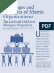 Challenges and Strategies of Matrix organization
