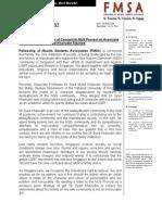 FMSA Position on NUS Concern