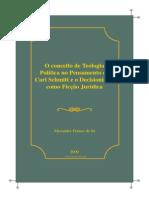Sa Alexandre Franco de o Conceito de Teologia Politica e Decisionismo Como Ficcao
