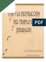 Unidad 8 Tito y la destrucción del Templo de Jerusalén - Ana Cristina Hoyos