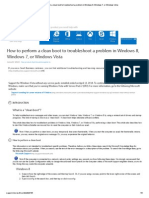 How to Perform a Clean Boot to Troubleshoot a Problem in Windows 8, Windows 7, Or Windows Vista