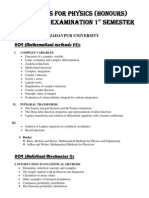Physics syllabus for JU