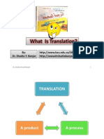 What is Translation - By Dr. Shadia Yousef Banjar