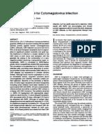 Use of Ganciclovir for Cytomegali Virus
