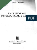 RENAN, Ernest - 1871 - La Reforma Moral e Intelectual (BRUTO)
