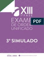 Original Oab Xiii Exame 3 Simulado