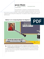 3 Ways to Compose Music - WikiHow