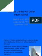 Las Naciones Unidas y El Orden Internacional