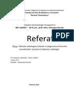 Metode Radiologice Utilizate in Diagnosticul Paradontitelor