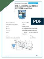 UNIVERSIDAD NACIONAL SANTIAGO ANTÚNEZ DE MAYOL HIDRAULICA 2