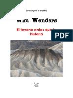 Wim Wenders El Terreno Antes Que La Historia