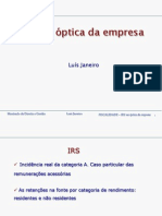 Slides sobre IRS na óptica da empresa