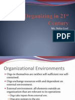 Organizing in 21st Century