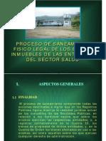 Saneamiento Fisico Legal Bienes e Inmuebles Del Sector Salud