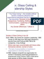 Gender,Glass Ceiling Wk 5