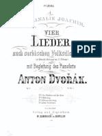 DVORAK - Op. 6 4 Songs on Serbian Folk Poems.pdf