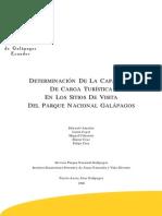 Capacidad de Carga de Galapagos