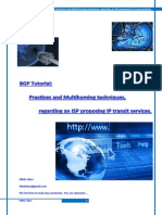 Bgp Tutorial Practices and Multihoming Techniques for Ip Transit Services 0 94(1)