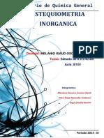 Informe N- 7- Estequimetria Inorganica