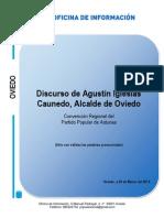 Discurso de Agustín Iglesias Caunedo en la Convención Regional del PP