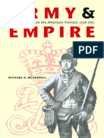Army and Empire British Soldiers on the American Frontier 1758 1775