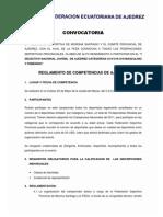 Convocatoria Selectivo Nacional Juvenil Macas 2013 ACTUALIZADO