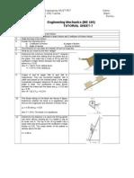 Friction Tutorial Sheet
