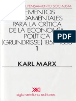Marx, Karl - Grundisse Tomo I