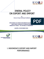 General Policy of Exim-