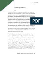 Humor, Literary Theory and Terror